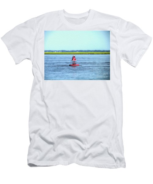 Little Red Buoy  Men's T-Shirt (Athletic Fit)