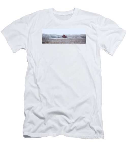 Little Red House Men's T-Shirt (Slim Fit) by Ellery Russell