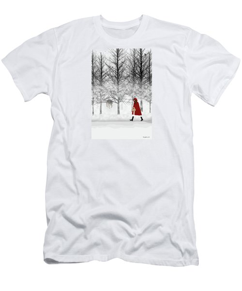 Men's T-Shirt (Slim Fit) featuring the digital art Little Red by Nancy Levan