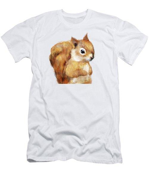 Little Squirrel Men's T-Shirt (Slim Fit) by Amy Hamilton