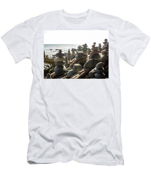 Little Stone Sculptures Men's T-Shirt (Athletic Fit)