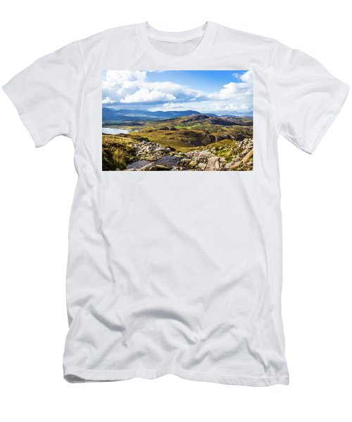 Men's T-Shirt (Slim Fit) featuring the photograph Little Stream Running Down The Macgillycuddy's Reeks by Semmick Photo
