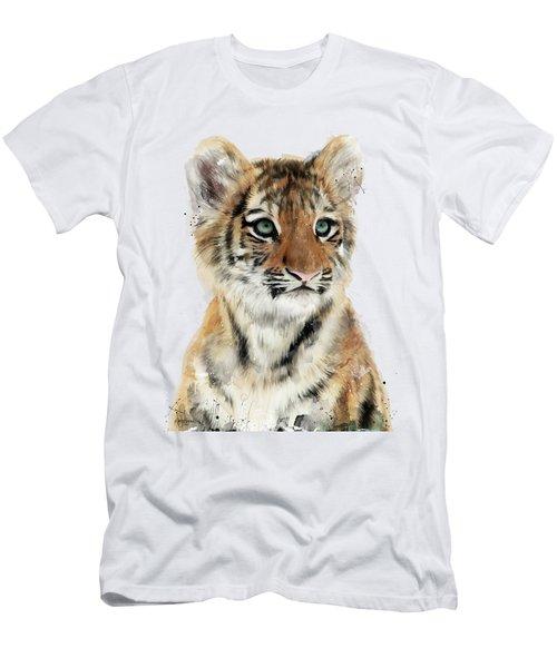Little Tiger Men's T-Shirt (Slim Fit) by Amy Hamilton