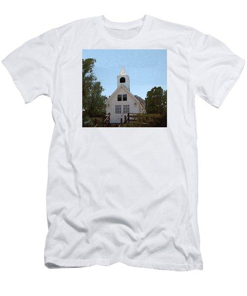 Little White Church Men's T-Shirt (Slim Fit) by Walter Chamberlain