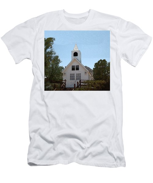 Little White Church Men's T-Shirt (Athletic Fit)