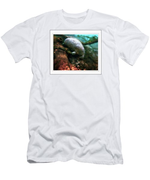 Little White Manatee Men's T-Shirt (Athletic Fit)