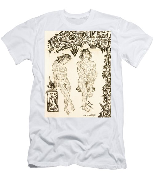Live Nude 10 Female Men's T-Shirt (Athletic Fit)