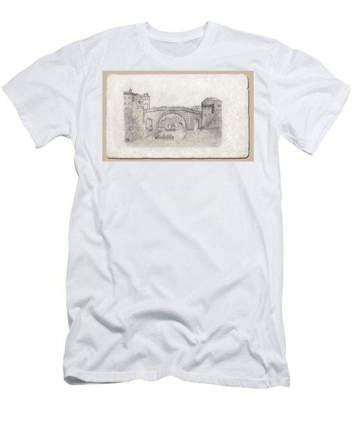 Liverpool Bridge Men's T-Shirt (Athletic Fit)