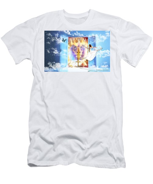 Men's T-Shirt (Slim Fit) featuring the digital art Living Word Of God by Dolores Develde
