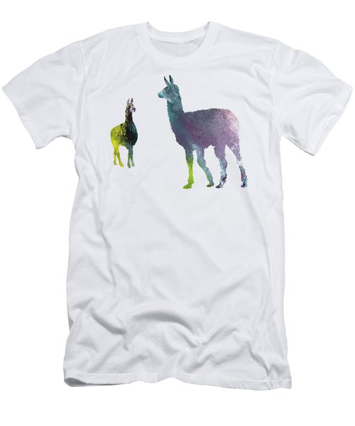 Llama Men's T-Shirt (Slim Fit) by Mordax Furittus