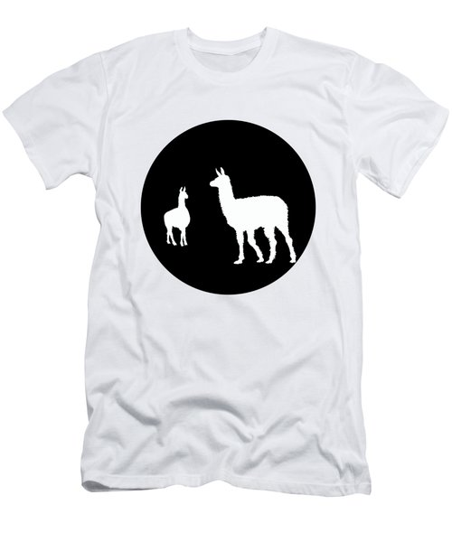 Llamas Men's T-Shirt (Slim Fit) by Mordax Furittus