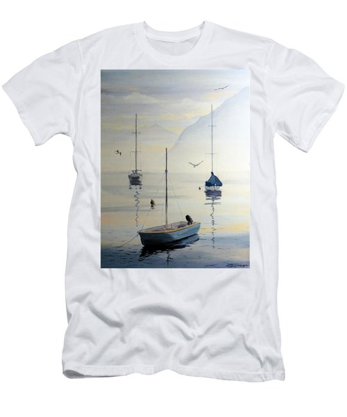 Locarno Boats In February Men's T-Shirt (Athletic Fit)