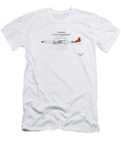 Men's T-Shirt (Slim Fit) featuring the digital art Lockheed C-121j Constellation by Arthur Eggers