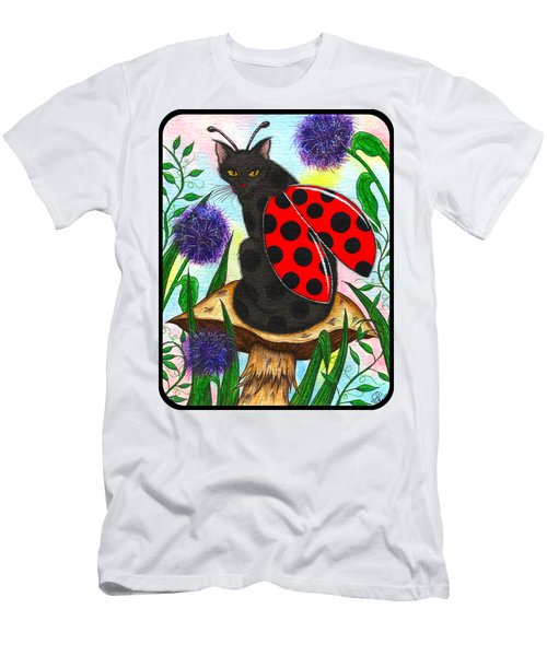 Logan Ladybug Fairy Cat Men's T-Shirt (Slim Fit) by Carrie Hawks