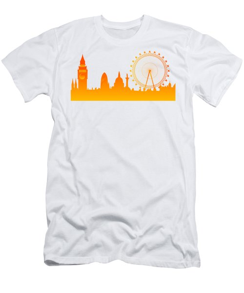 London City Skyline Men's T-Shirt (Athletic Fit)