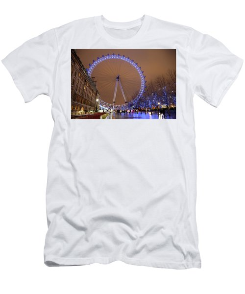 Men's T-Shirt (Slim Fit) featuring the photograph Big Wheel by David Chandler