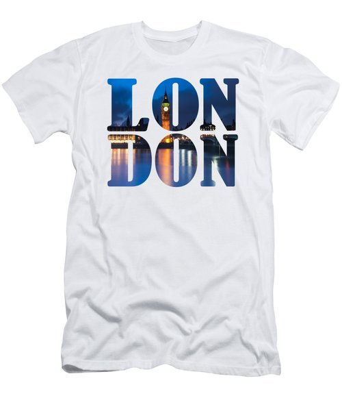 London Letters Men's T-Shirt (Slim Fit) by Matt Malloy
