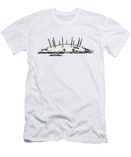 London O2 Arena Men's T-Shirt (Slim Fit) by ISAW Gallery
