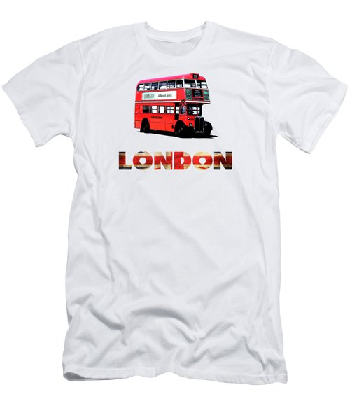 London Red Double Decker Bus Tee Men's T-Shirt (Athletic Fit)
