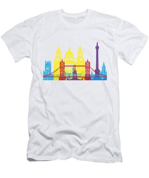 London Skyline Pop Men's T-Shirt (Athletic Fit)