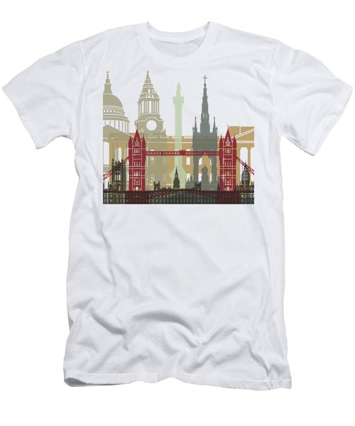 London Skyline Poster Men's T-Shirt (Athletic Fit)