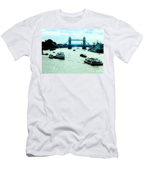 Men's T-Shirt (Athletic Fit) featuring the photograph London Uk by Michelle Dallocchio