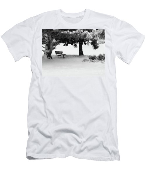 Lonely Park Bench Men's T-Shirt (Athletic Fit)