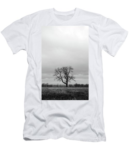 Lonely Tree In A Spring Field Men's T-Shirt (Slim Fit) by GoodMood Art