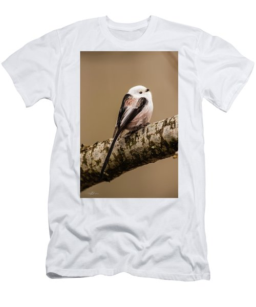 Long-tailed Tit On The Oak Branch Men's T-Shirt (Athletic Fit)