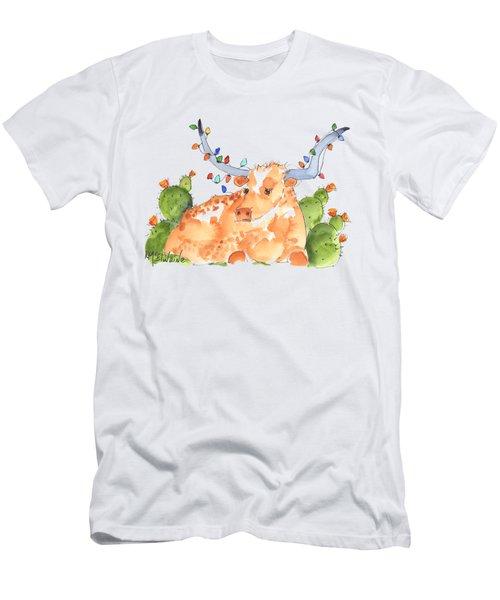Longhorn Christmas Men's T-Shirt (Athletic Fit)