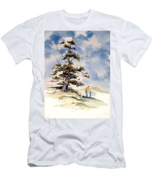 Men's T-Shirt (Athletic Fit) featuring the painting Look Dad by Sam Sidders