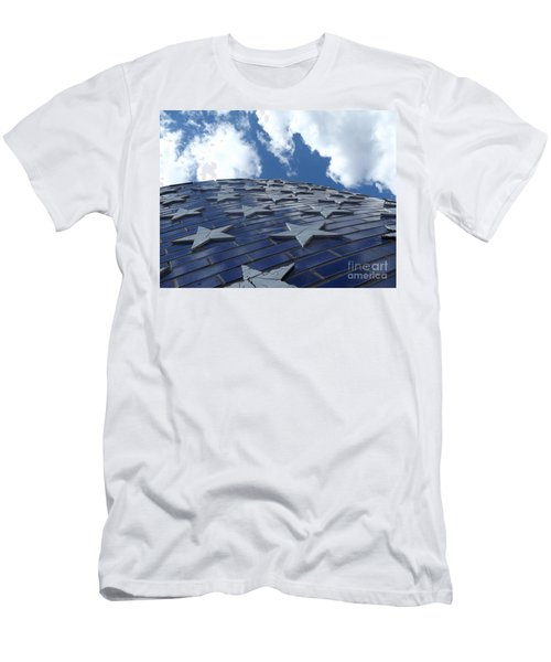 Lookig Up At The Stars And Blue Sky Men's T-Shirt (Athletic Fit)