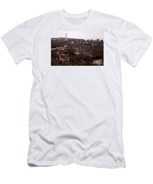 Looking North From  Lafayette And Summit. Men's T-Shirt (Slim Fit) by David Blank