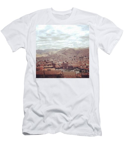 Looking Out Across Cusco At The Start Men's T-Shirt (Athletic Fit)