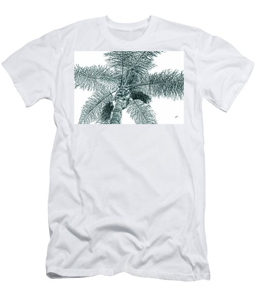 Men's T-Shirt (Slim Fit) featuring the photograph Looking Up At Palm Tree Green by Ben and Raisa Gertsberg