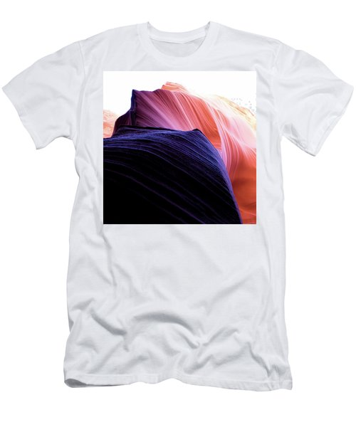 Men's T-Shirt (Athletic Fit) featuring the photograph Looking Up - Dark To Light by Stephen Holst