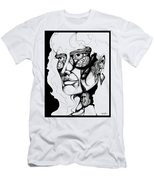 Men's T-Shirt (Slim Fit) featuring the drawing Lord Of The Flies Study by Curtiss Shaffer