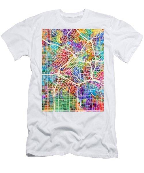 Los Angeles City Street Map Men's T-Shirt (Athletic Fit)