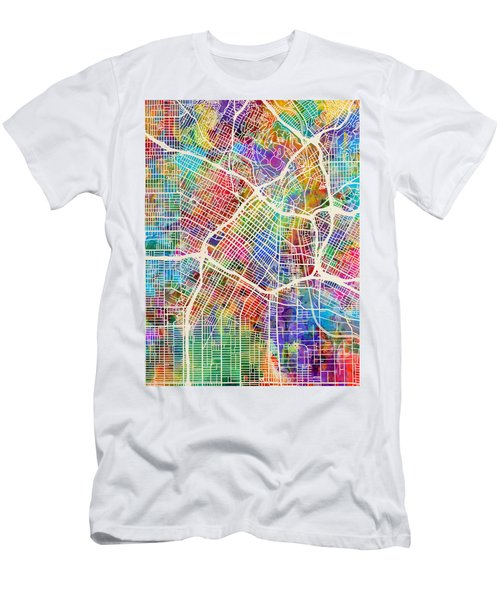 Los Angeles City Street Map Men's T-Shirt (Athletic Fit)
