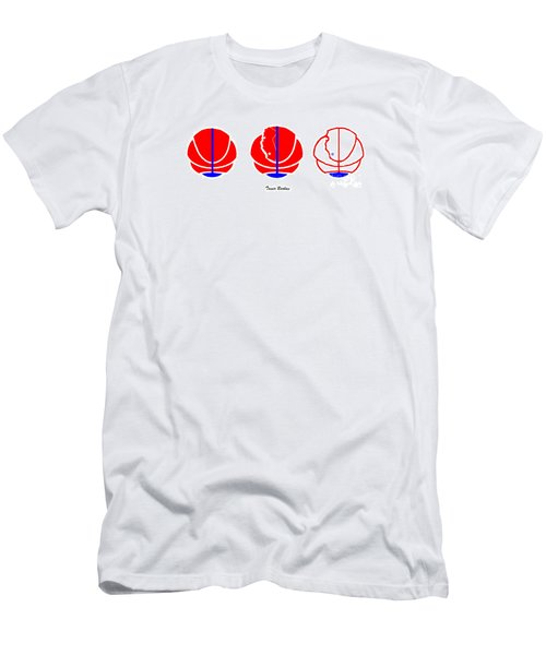 Men's T-Shirt (Slim Fit) featuring the digital art Los Angeles Clippers Logo Redesign Contest by Tamir Barkan