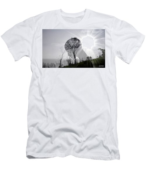 Lost Connection With Nature Men's T-Shirt (Slim Fit) by Paulo Zerbato