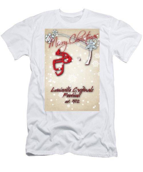Louisville Cardinals Christmas Card Men's T-Shirt (Athletic Fit)