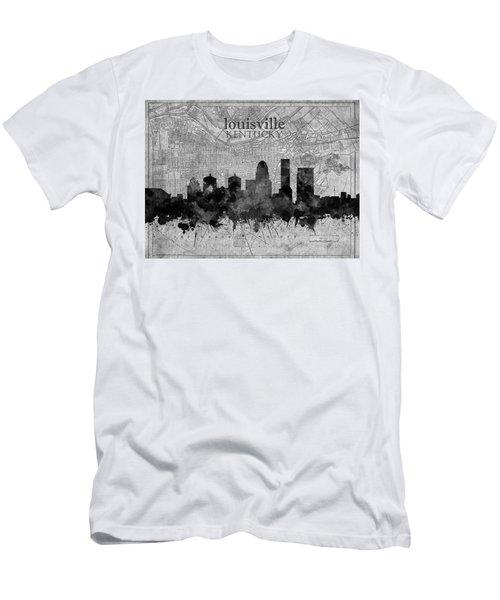 Louisville Kentucky Skyline Vintage 4 Men's T-Shirt (Athletic Fit)