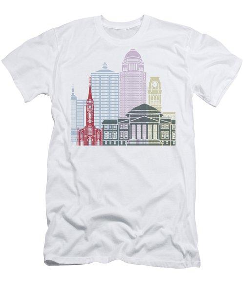 Louisville Skyline Poster Men's T-Shirt (Athletic Fit)