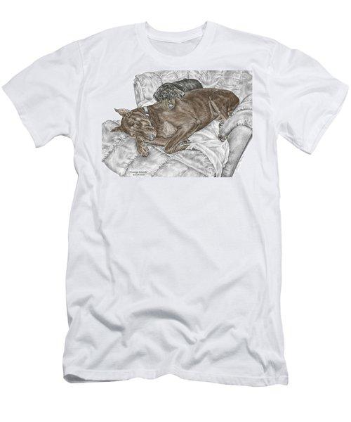 Lounge Lizards - Doberman Pinscher Puppy Print Color Tinted Men's T-Shirt (Athletic Fit)