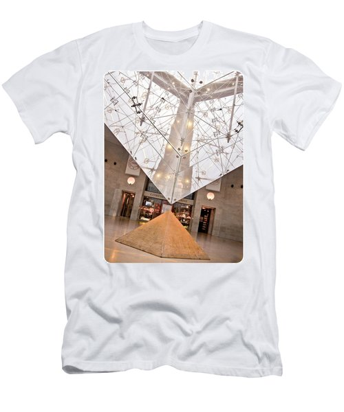 Men's T-Shirt (Slim Fit) featuring the photograph Louvre Pyramid by Silvia Bruno