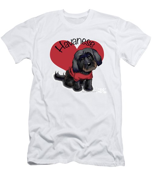 Lovable Black Havanese Men's T-Shirt (Athletic Fit)