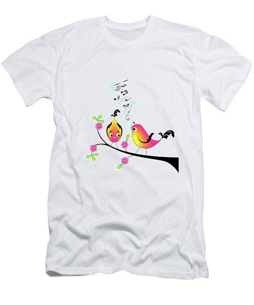 Love Bird Serenade Men's T-Shirt (Athletic Fit)