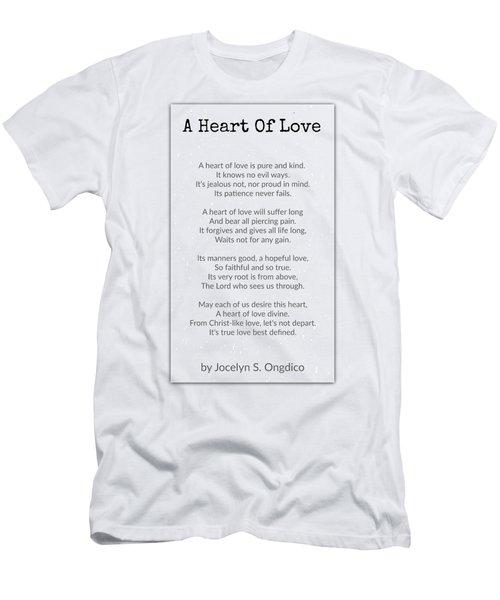 Love Heart Men's T-Shirt (Slim Fit) by David Norman
