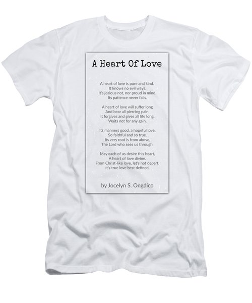 Love Heart Men's T-Shirt (Athletic Fit)